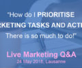 'LIVE Marketing Q&A' series – May 24th, Lausanne