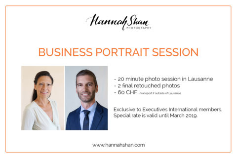 EI Members Offer: Professional Digital Portrait by Photographer Hannah Shan